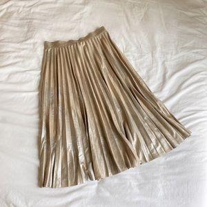 Zara Gold Midi Skirt
